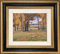 DEWITT DRAKE. [Canadian, 1884-1978]. [Golden Foliage]. Framed Oil on board