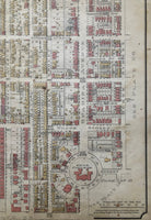 close up of Goad Map of Toronto 1890 Plate 25
