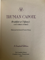 Breakfast at Tiffany's & Three Stories by Truman Capote Title Page