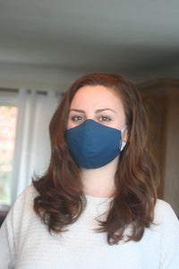 Blue Merino Smooth Mask (Single)