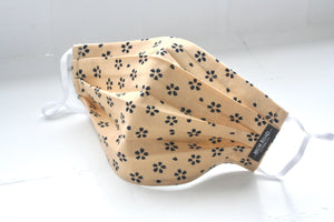 Tan with Navy Print Mask (Single)