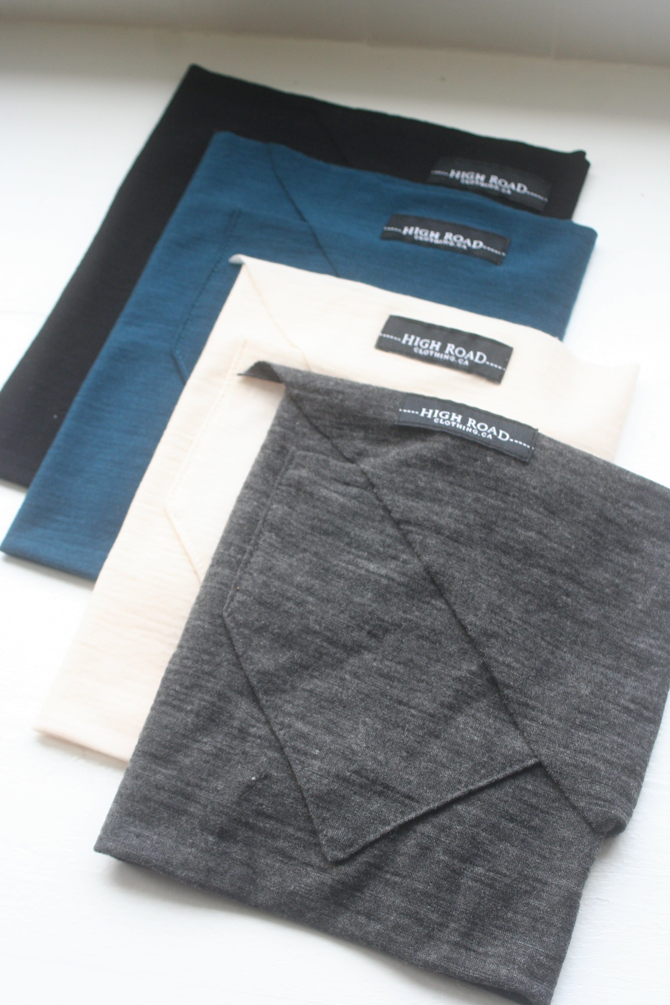 Charcoal Merino Bandana (Single)