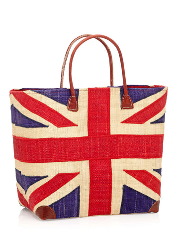 Close product shot of Union Jack bag