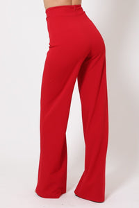 Double Reverse G Buckle Detail Pants