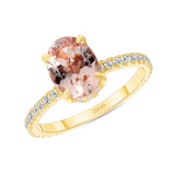 14K Gold 1 Carat Oval Morganite Ring