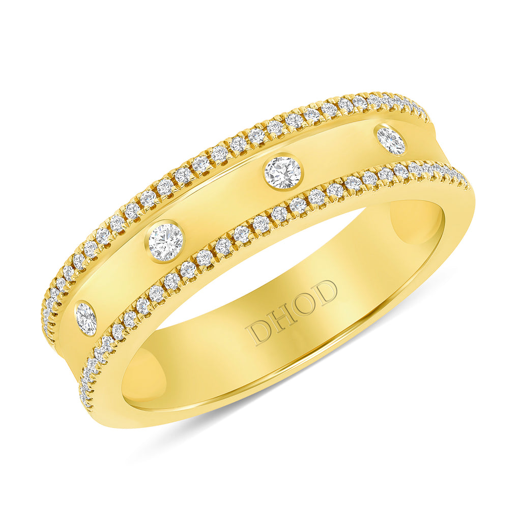 14K Gold 5MM Diamond Band