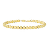 14K Gold Medium Ball Bracelet