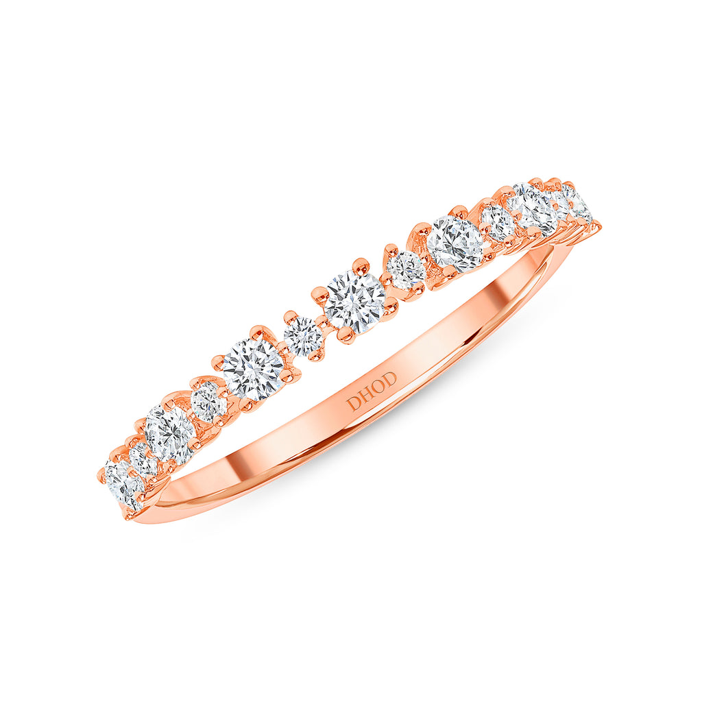 14K Gold Round Prong Diamond Band