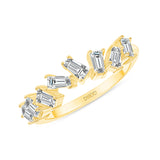 14K White Gold Art Deco Diamond Baguette Band Wedding Band