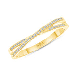 14K Gold X Mini Narrow Diamond Ring