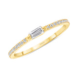 14K Gold Single Baguette Stackable Band