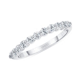 14K Gold Single Prong 2MM .50 Carats Diamond Band
