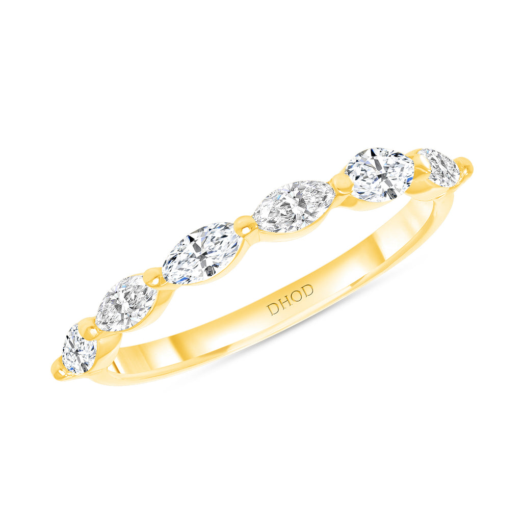 14K Gold Marquise Single Prong Band