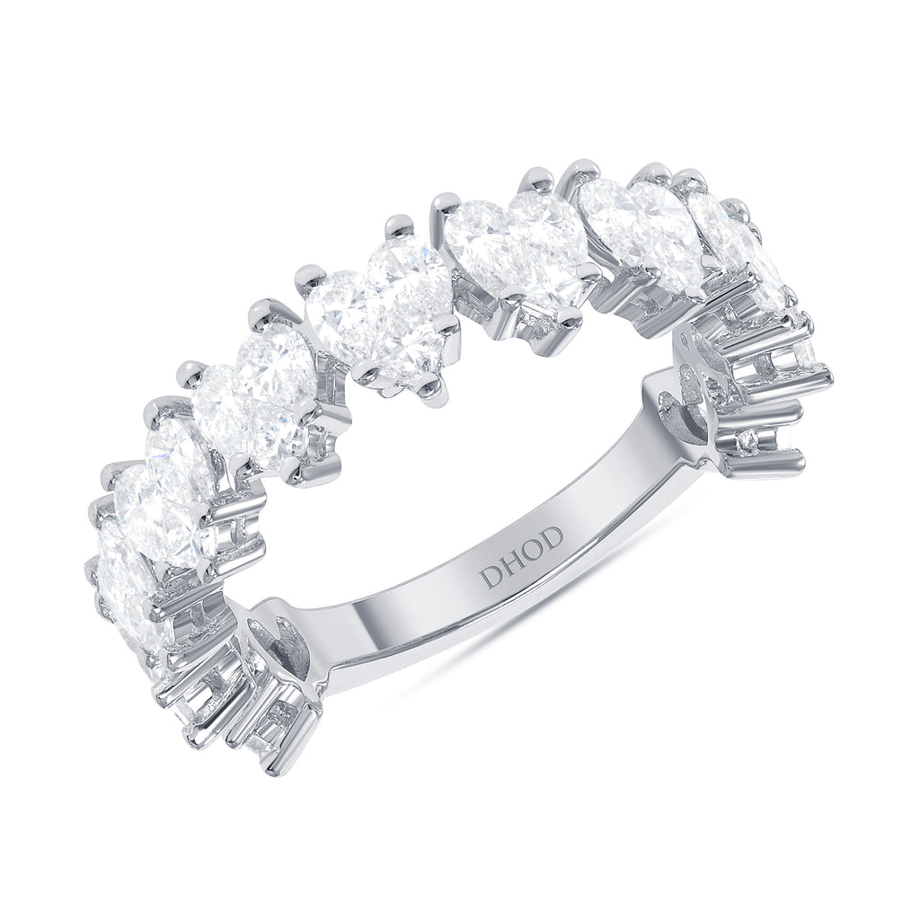 14K Heart Cluster Diamond Ring
