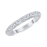 14K Gold 3D Diamond Band