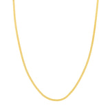 14K Yellow Gold 2.70MM Herringbone Chain