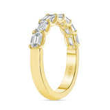 14K Gold East West Halfway Diamond Band