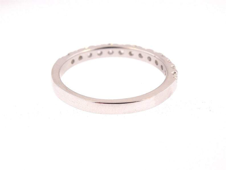 14K Gold 2MM Diamond Prong Band