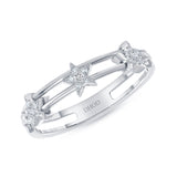 14K Gold Diamond Moveable Star Band