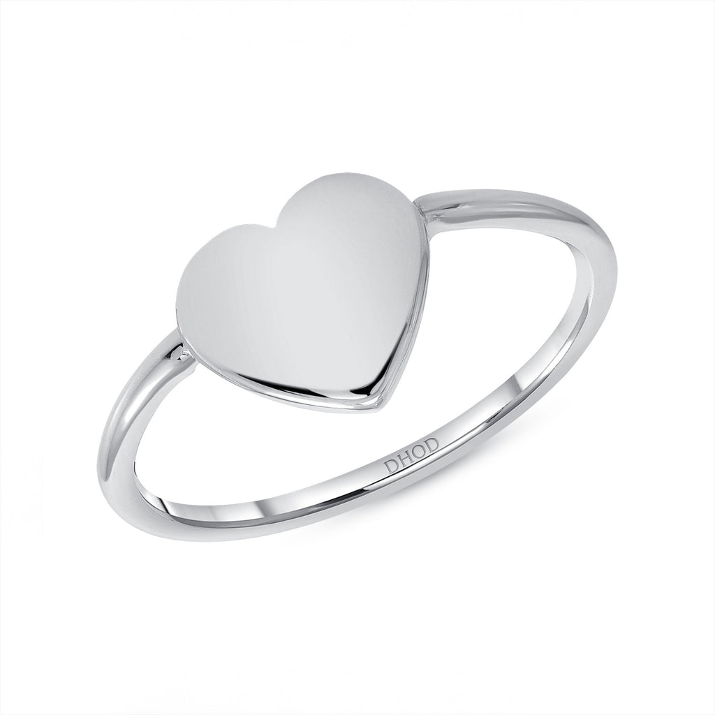 14K Gold Heart ID Ring