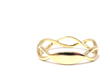 14K Gold Infinity Diamond Band