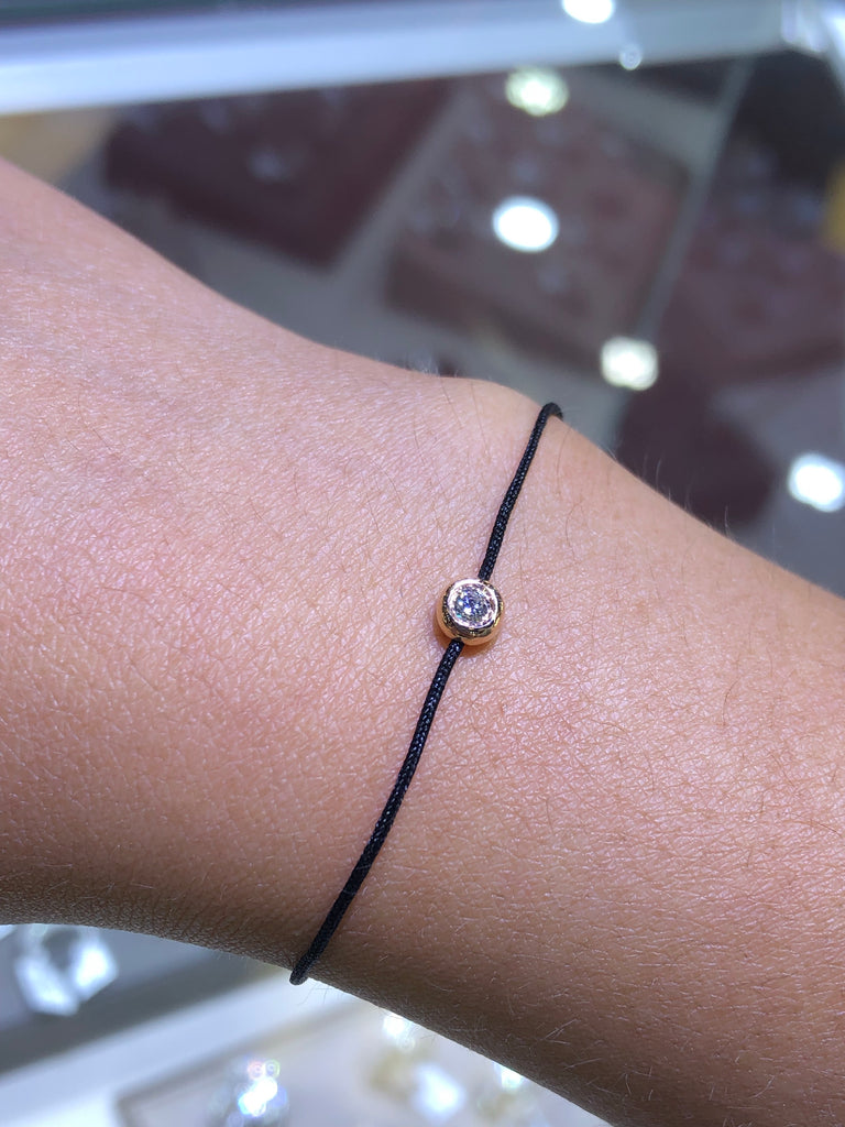 String Diamond Bezel Bracelet