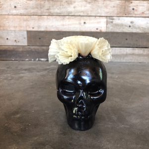 Calavera Candle -BLACK