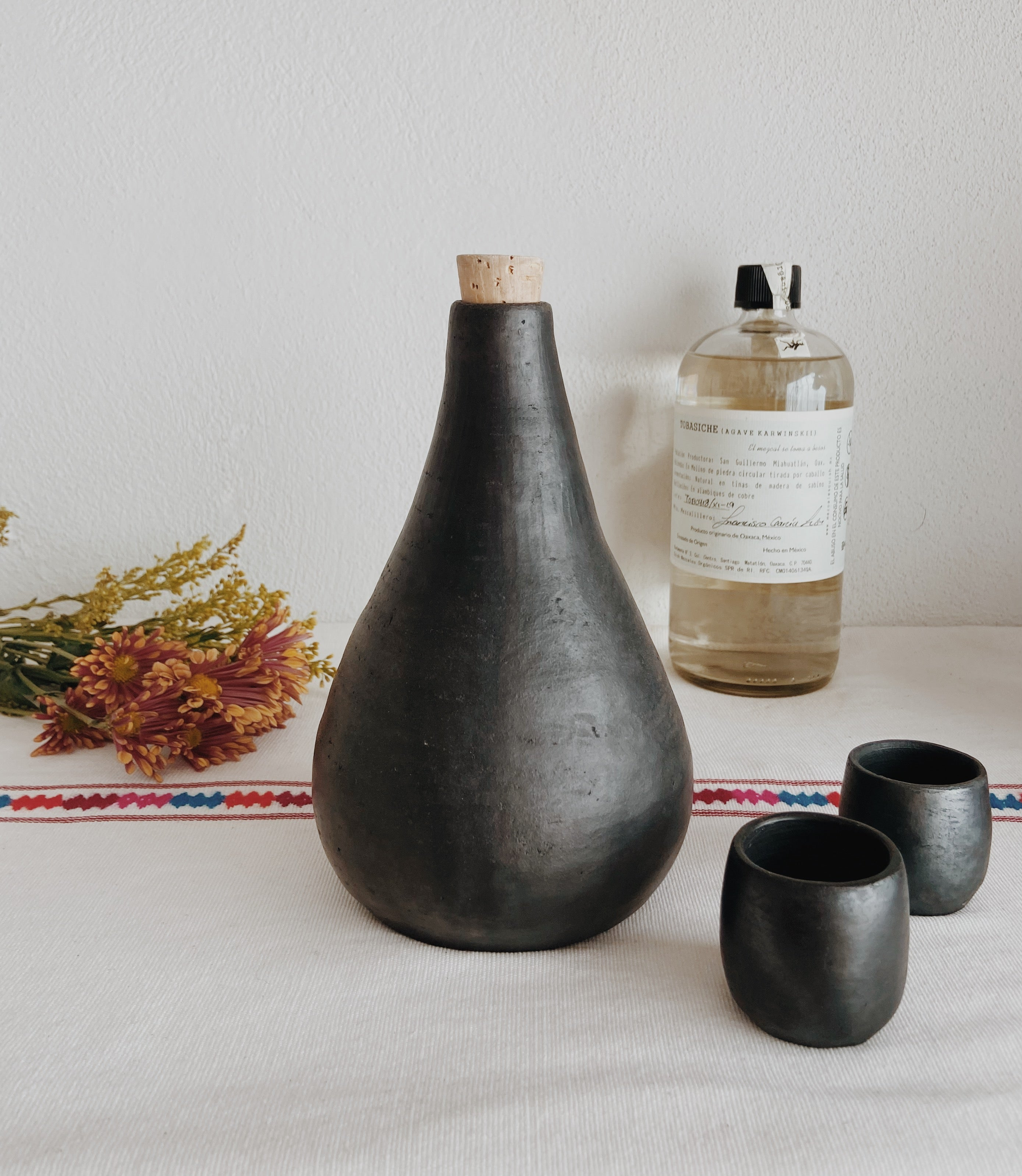 Black Clay Mezcal Vessel, Made in Mexico