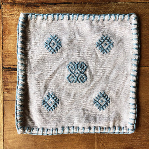 Hand embroidered coaster set, GRAY Made in Mexico