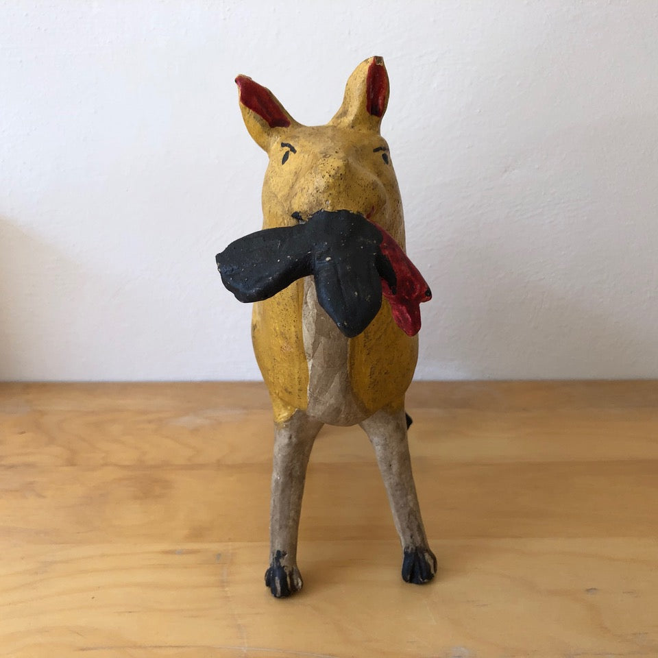 Vintage Ceramic Coyote Piggy Bank from Mexico