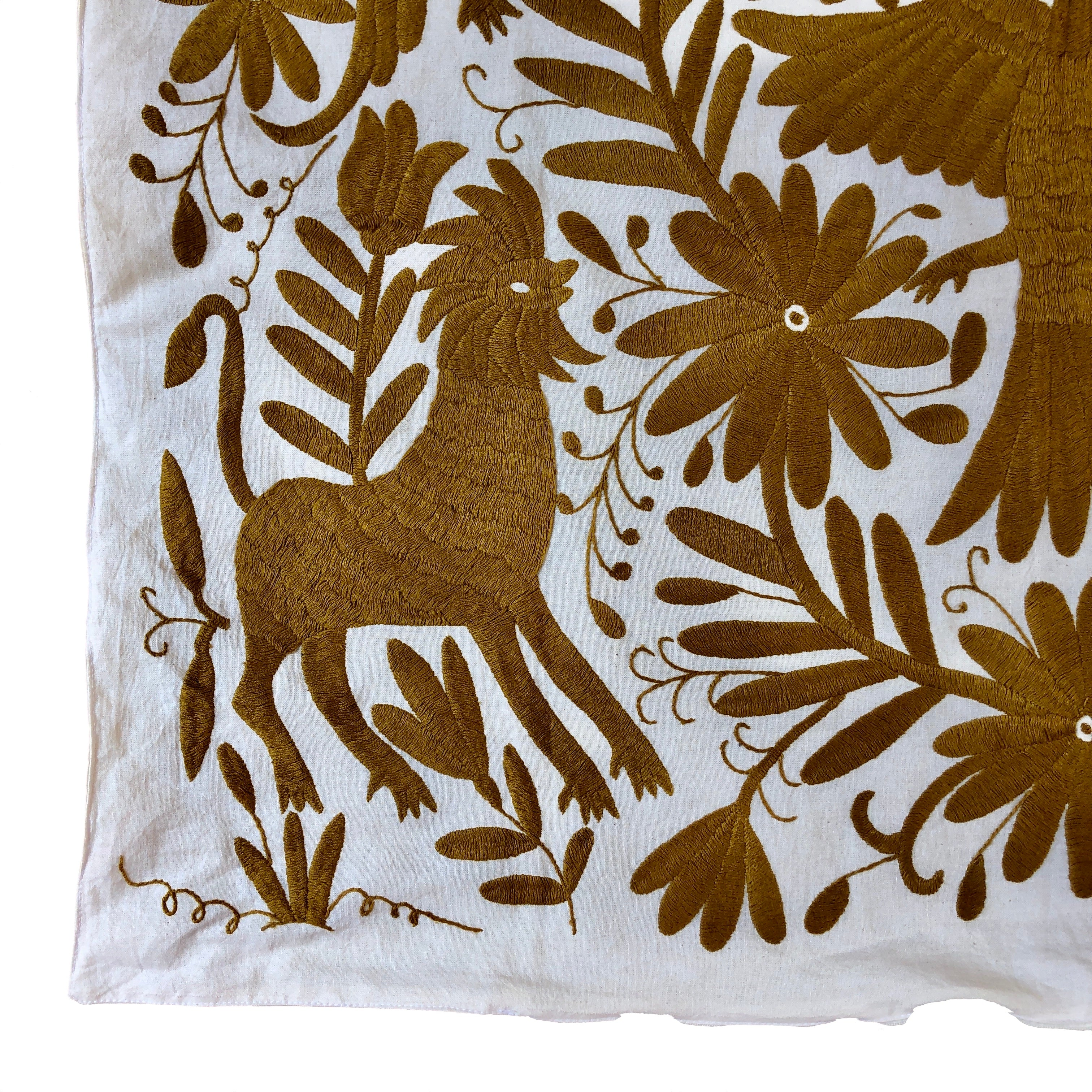 XL Otomi pillow cover -GOLD