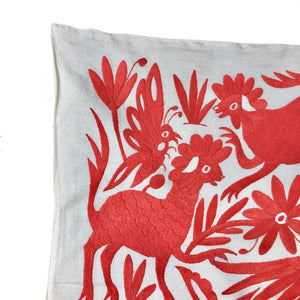 XL Otomi pillow cover -SALMON