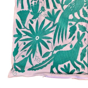 XL Otomi pillow cover -AQUA