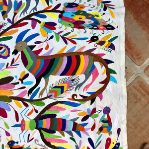 Special Multi Color Otomi embroidered tapestry / wall hanging - One of a kind