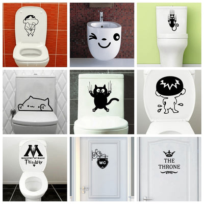 Modern Closestool Vinyl Sticker