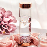 Gemelix ROSEGOLD Gemstone Waterbottle