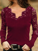 Sheath Long Sleeve Shirts & Tops