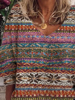 Multicolor Shift Long Sleeve Tops