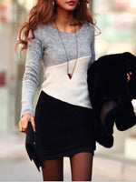 Crew Neck Long Sleeve Dress