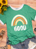Casual Simple Loose Print T-Shirt