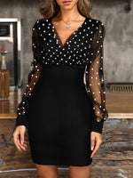 Polka Dots Long Sleeve Dresses