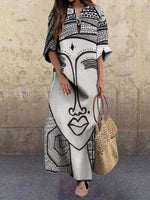 Printed Graphic Casual Shift Dress
