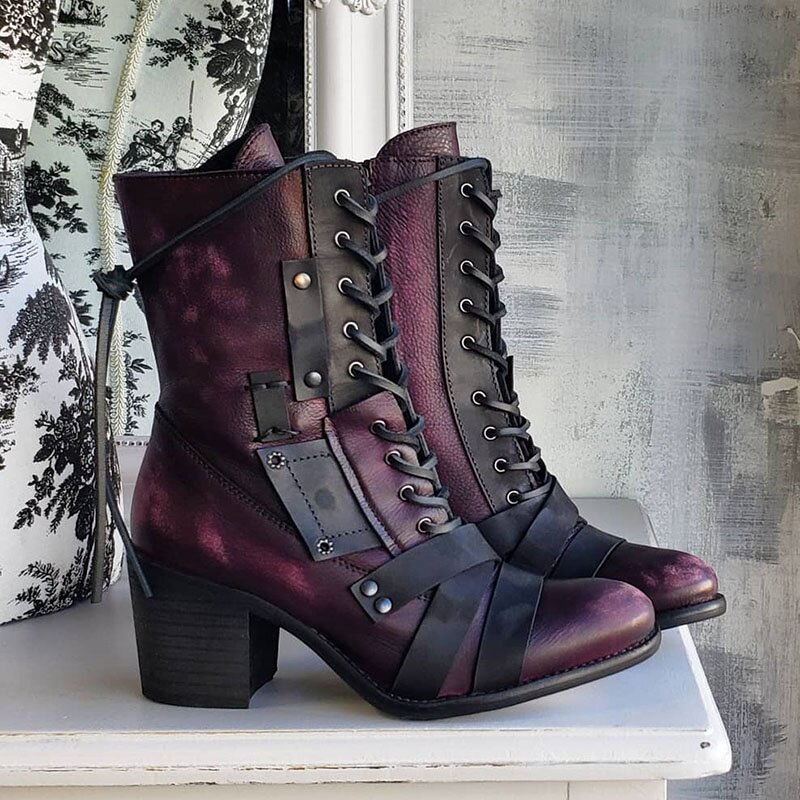 Casual Faux Leather Boots