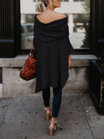 Irregular Mid-length Shirt With One Shoulder