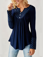 Long Sleeve V Neck Shirts & Tops
