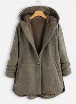 Casual Pockets Cotton-Blend Outerwear