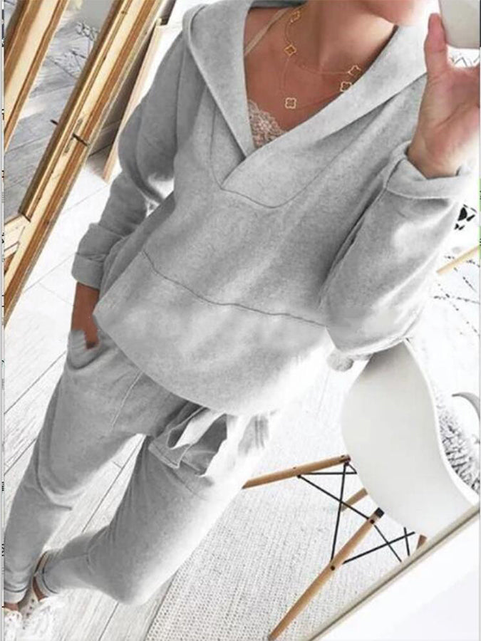 Casual Cotton-Blend Long Sleeve Suits