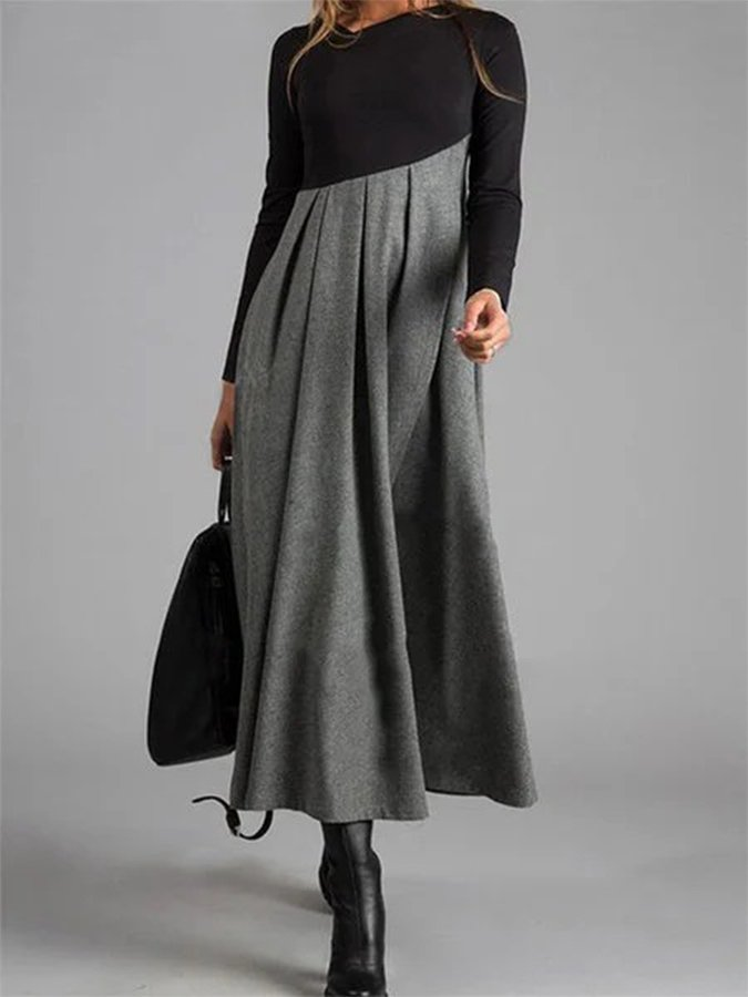 Loose Casual Long Sleeve Maxi Dress