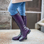Women's Retro Fashion Leather Lace Up Casual All-Match Boots