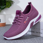 Women Sports Flyknit Fabric Casual Lace Up Sneakers
